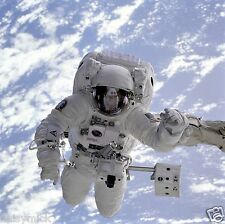 Astronaut Space Walk Earth, Photograph 8x8 inch
