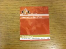 03/01/2005 Ticket: Sunderland v Gillingham [Executive Box Pass] (fold to corner)