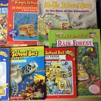 Lot of 8 Magic School Bus Books by Joanna Cole Ms. Frizzle Science Homeschool