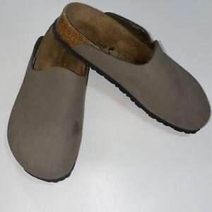 BIRKENSTOCK Birki's Provence Clogs Mules Sandals Gray Taupe Women 37 6 Narrow