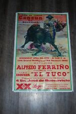 Plaza De Toros De Cancun Poster Alfredo Ferrino Lager 17th Grand Bullfight 1990