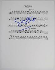 "Ginger Baker CREAM Signed Autograph ""Politician"" Drum Chart  Sheet Music Clapton"