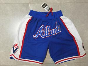 Hot sale New Atlanta Hawks Men's Pocket blue Basketball Shorts Size: S-XXL