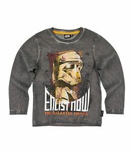Star Wars Langarmshirt Rogue One T-Shirt Grau Gr.116,128,140,152