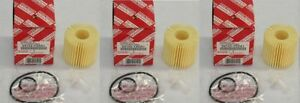 Toyota Genuine Parts 04152-YZZA1 Oil Filter Set of 3