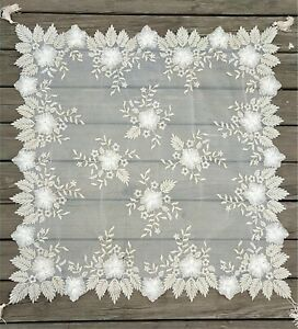 Tassel Floral Embroidery Lace Table Placemat Party Home Piano Decor Dining Doily