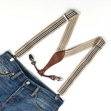 Brand new Mens Adjustable Clip-on Unisex suspenders stripe womens braces BD610