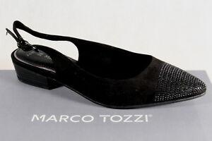 Marco Tozzi Sandale Femmes Sling Noire Neuf
