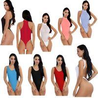 Sissy Women's One Piece Thong Bodysuit Swimwear High Cut Sheer Thong Jumpsuit