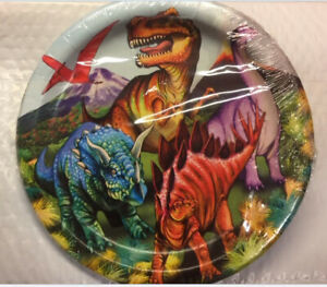 DINOSAUS Happy Birthday Party lunch dinner PAPER PLATES 18pcs 9inch dinos T Rex