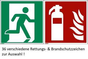 Rettungszeichen / Aufkleber nach ASR A1.3 / ISO 7010  Sicherheitsbeschilderung