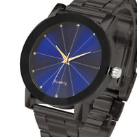 Fashion Man Daily Crystal Stainless Steel Band Watches Analog Quartz Wrist Watch