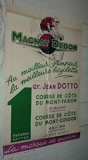 RARE AFFICHE PUBLICITE 1954 CYCLES MAGNAT-DEBON DIJON VELOMOTEURS MOTOS SCOOTERS