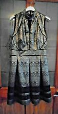 SIZE 10 BEAUTIFUL GOLD AND BLACK HIGH NECKED DRESS BY OASIS
