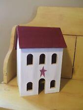 Primitive wooden Salt Box House with optional light