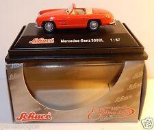 MICRO METAL DIE CAST SCHUCO HO 1/87 MERCEDES-BENZ 300 SL CABRIOLET ROUGE IN BOX
