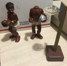 Chase African Native Tribal Headhunter Playing Basketball Figurine Japan Antique