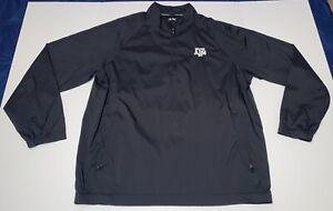 Adidas Climaproof Wind Golf 1/4 Zip Texas A&M Aggies Pullover Jacket Black EUC