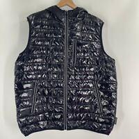 Noize Mens Gavyn Black Full Zip Pockets Hooded Puffer Vest Jacket Sizes M L