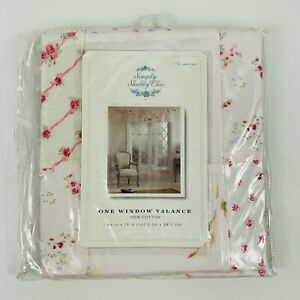 """Simply Shabby Chic Window Valance 54"""" x 15"""" Pink Calico Floral Patchwork"""