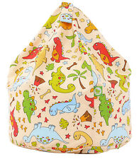 Child / kids Size Dinosaur Bean Bag With Beans By Bean Lazy