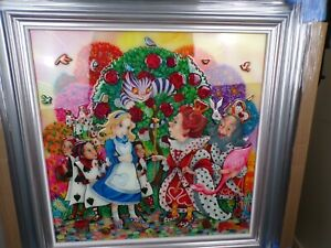 Kerry Darlington Artwork      Alice in the Rose Garden          New never hung