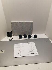 """Mayline Pedestal Mobile Kit 30"""" - C8830M Tech Silver - CSII Kit w/Lid & Casters"""