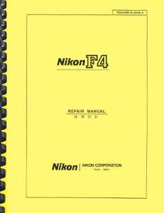 Nikon F4 Camera SERVICE REPAIR MANUAL