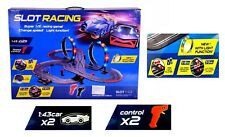 Large Remote Control Light Up Slot Car Racing Track Kids Toy
