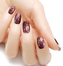 Brown Cinnamon color Glitter real nail polish strips Kas219 street art wraps