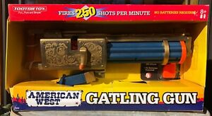 "American West Gatling Gun by Tootsie Toy 18"" long"