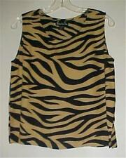 Alexandria Pierce Animal Print Sleeveless Tank Top Small NEW