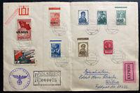 1941 Vilnius German Occupation Latvia Cover Russian Stamps Overprints Comp Set