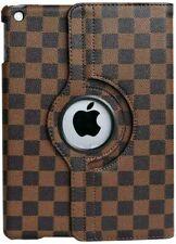 Apple iPad Mini 1 2 3 gen (MINI) - Brown Checkered Plaid Stand Cover Case Pouch