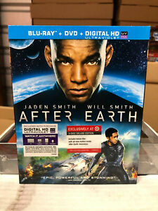 After Earth (Blu-ray/DVD, 2013) NEW OOP Target Exclusive w/ SLIPCOVER rare
