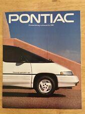 1990 Pontiac Brochure Firebird Grand Am Grand Prix LeMans 6000 Sunbird Trans Am