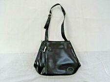 LONGCHAMP Black Leather Medium Hobo Crossbody Bucket Bag