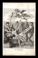 santino incisione 1800 S.LORENZO M.