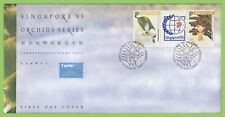 Singapore 1993 Singapore 95' Orchids (3rd issue) set on First Day Cover