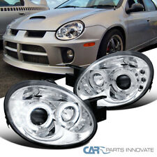Dodge 03-05 Neon SRT4 SRT-4 Replacement LED Halo Projector Headlights Lamp Clear