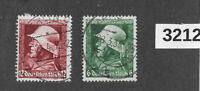 #3212   Stamp set Sc452-453 / 1935 Germany Third Reich era / Military Hero's day