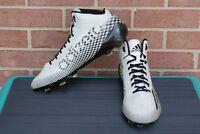 ADIDAS ADIZERO MEN'S FOOTBALL CLEATS WHITE/BLACK SIZE 14
