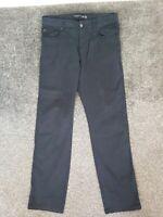 Mens Hackett Chinos Trousers Blue 32r 32 Waist 31 Leg