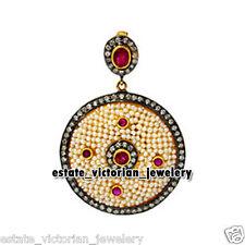 Studded Silver Wedding Pendant Jewelry Vintage 1.90cts Rose Cut Diamond Gemstone
