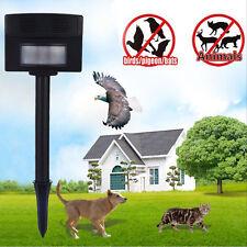 Ultrasonic Cat Dog Fox Repeller Chaser Garden Animal Scarer Deterrent Repellent