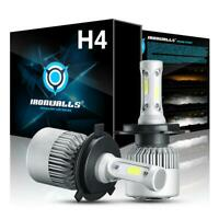 PAIR IRONWALLS H4 9003 HB2 LED Headlight Bulbs Kit Hi-Lo Beam 6500K CREE LAMP US