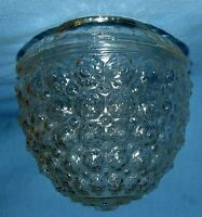 "VTG Art Deco Acorn Shaped Clear Glass Shade Ceiling Light Globe 3 1/4"" W @ Mouth"