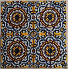 """W168 - 16 Decorative 4x4"""" Mexican Talavera Decorative Tile"""