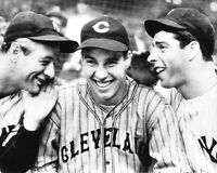 Indians BOB FELLER, Yankees LOU GEHRIG and JOE DIMAGGIO 8x10 Photo Poster Print