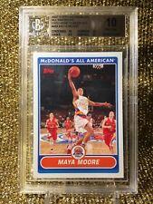 Maya Moore WNBA 2007 Topps McDonalds Minnesota Lynx Uconn RC Pristine BGS 10